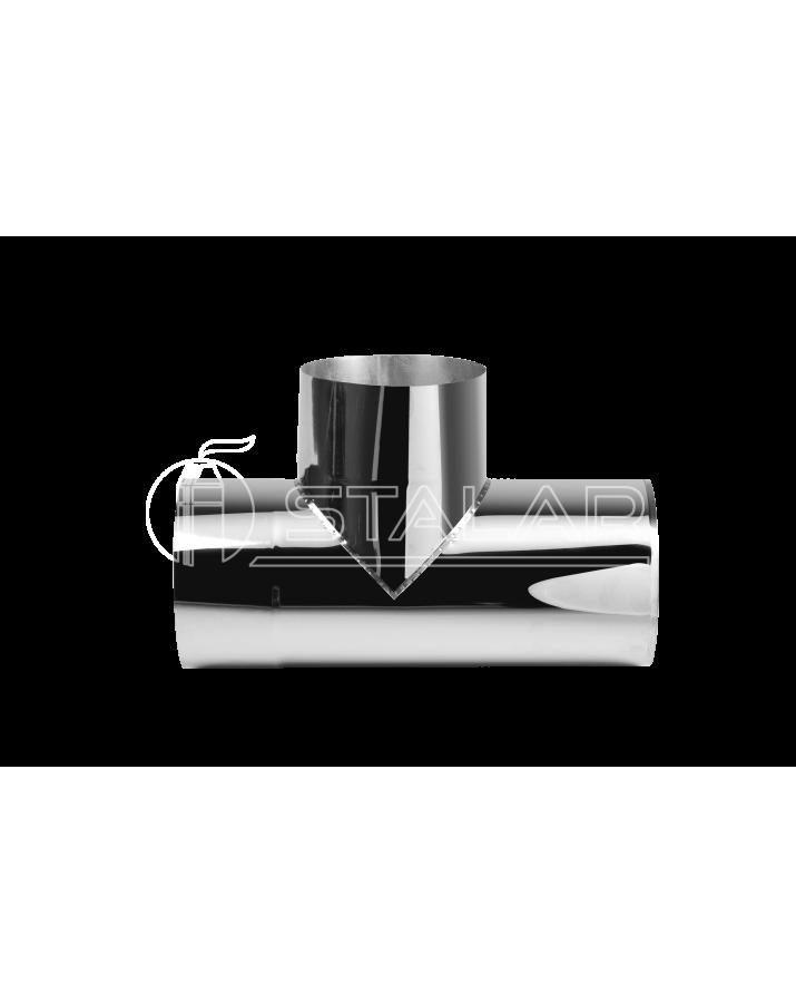 Single wall tee 90° (Premium mono AISI 321) - diameter Ø400, thickness 1 mm
