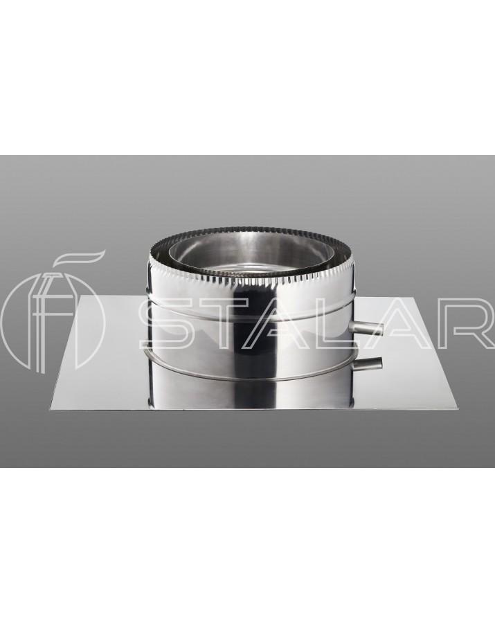 Floor stand - thinkness 0,5 mm - steel grade 304 - diameter Ø100/160